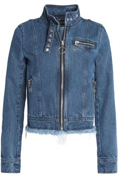 Frayed denim biker jacket | MARQUES ' ALMEIDA | Sale up to 70% off | THE OUTNET