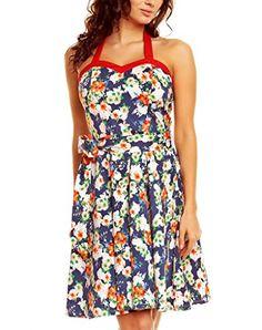 Fashion House Vintage Floral Rockabilly Halterneck Dress 3225 Navy Blue Size 22 Polka Twist http://www.amazon.co.uk/dp/B00NNGW79A/ref=cm_sw_r_pi_dp_5S9rvb07ZNCM7
