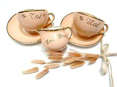 Vintage french  YOU & ME  Tea set  coffee set and by CabArtVintage, $110.00