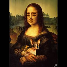 #monalisa #painting #pixelsorting #art #artwork Why the Mona Lisa's eyes follow you around?
