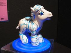 Here's two birds with one stone: modified My Little Ponies (this is the Tron version).