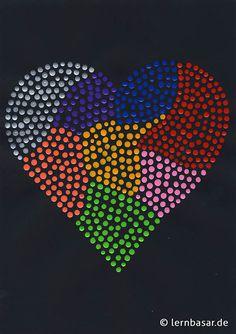 Dot-painting - mit Herz