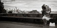 Seattle Art Museum engagement photo session