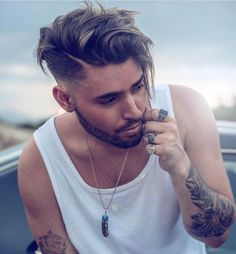 Check The Best Men's Fall Hairstyles Long Fringe with Mid Skin Fade Click ima. The Best Men's Fall Hairstyles Long Fringe with Mid Skin Fade Click image to see more. Mens Hairstyles Fade, Cool Hairstyles For Men, Haircuts For Men, Fall Hairstyles, Haircut Men, Hairstyles Haircuts, Popular Haircuts, Men Haircut 2018, Young Man Haircut
