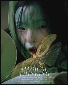"""The Terrier and Lobster: """"Magical Thinking"""": Asia Chow, Liu Wen, and Xiao Wen Ju by Tim Walker for W Magazine"""