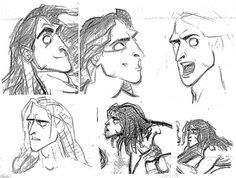 Model Sheet Monday: Disney's Tarzan - Character Design Page