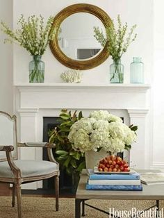 White traditional fireplace - accessories - classic