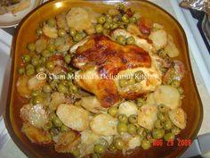 Voici une recette tres facile a faire et tres bonne. Un poulet, des olives vertes et des pommes de terre le tout au four, accompagnes d'une bonne salade variee et de pain fait maison. Je vous laisse avec la recette. Source: Oum Mouaad, myself Ingredients:...