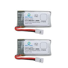 Holy Stone 2PCs of 3.7V 350mAh Lipo Battery for RC Quadcopter Holy Stone HS170,HS170C,F180W,F180C,Hubsan X4, H107D H107L (2 pcs) ** You can find more details by visiting the image link.