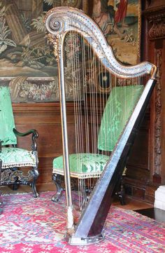 Harp | 1780 - Such a beauty!  'O choice instrument of the smooth, gentle curve, thou that criest under red fingers, musician that hast enchanted us, red harp, high-souled, perfect in melody.' ~Gofraidh Fionn Ó Dálaigh, from 'To A Harp'