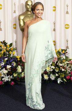 Jennifer Lopez in Vintage Valentino at the Oscars