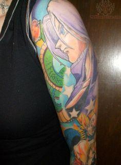 Dragonball Z sleeve tattoo