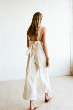 FME Apparel - Pinafore Playsuit in Ivory - Pinafore Playsuit in Ivory Long Jumpsuits, Playsuits, Clothing Items, Warm Weather, Wide Leg, Bodice, Personal Style, Fashion Show, Ivory