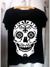 6ee573580b82e camiseta moda feminina caveira mexicana Caveiras Mexicanas