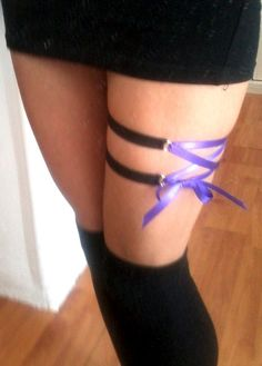 Diy cage lace up studded garter