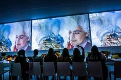 """""""Surround Sound Supper Club,"""" a private dinner that paired courses with movie clips (a scene from Sofia Coppola's Marie Antoinette, for example, with cupcakes, macarons, and a deconstructed sundae)"""