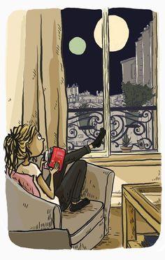 1q84, Haruki Murakami, Novels, Illustration, Books, Graphic Novels, Libros, Glove, Drawing Drawing