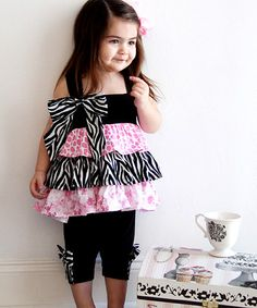Take a look at this Enchanted Dollhouse Tunic & Cropped Leggings - Infant & Toddler by Nesting Baby on #zulily today!