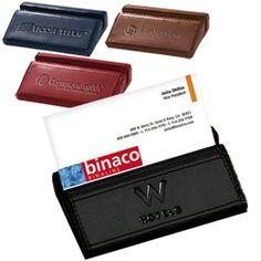 Soho Leather Desk Business Card Holder