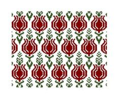 Pomegranates Art Deco Counted by MarinaDesignBoutique on Etsy, $2.99