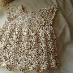 Baby Crochet Patterns Part 21 - Beautiful Crochet Patterns and Knitting Patterns Beau Crochet, Crochet Baby Dress Pattern, Baby Girl Crochet, Crochet For Kids, Crochet Patterns, Cotton Crochet, Crochet Summer, Crochet Diagram, Crochet Stitch