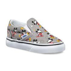 "Mickey Mouse ""Van"" Toddler Slip Ons"