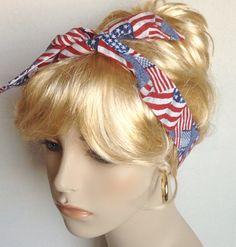 Rockabilly Headband Skinny Self Tie Dolly Bow Retro Pin Up Red