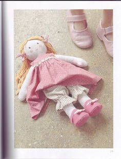 Textile and doll clothes for her. Pattern.