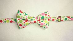 Adult's & Children's Pretied Bow Tie in  Christmas Dots by HouseOfJdawn on Etsy