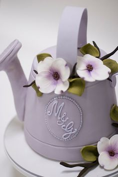 Watering Can Cake by studiocake, via Flickr