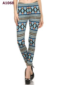 Multi Printed Seamless One Size High Waist Comfy Leggings
