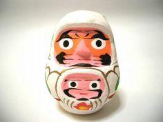 山梨県甲府市親子達磨 Oyako-Daruma ( Parent and child Daruma ) Kofu, Yamanashi, Japanese folk toy