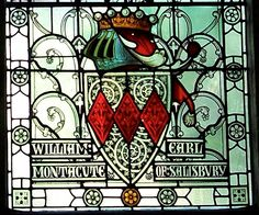 William Montacute, Earl of Salisbury, Winchester Castle, Great Hall stained glass windows.