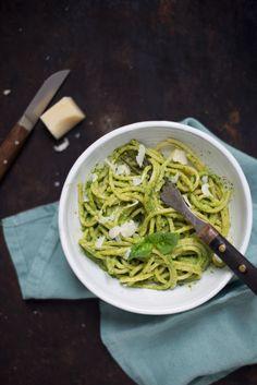 Opskrift: Pesto med rucola og citron