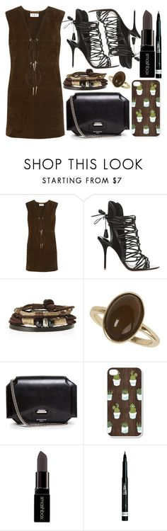"""street style"" by sisaez ❤ liked on Polyvore featuring Yves Saint Laurent, Sophia Webster, Dorothy Perkins, Givenchy, Smashbox and Rimmel"