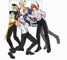 Uta no Prince Sama - Behind the Blu-ray art