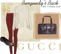 """Burgundy's Back!"" by queenbeebeverlyhills on Polyvore"