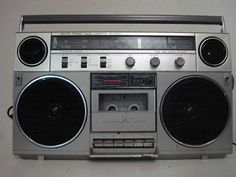 This is very like my first boombox. Although, it was not terribly well-powered and didn't have much boom. Got it for my 12th birthday (along with having my ears pierced).