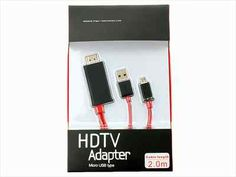 Universal HDTV Micro USB to HDMI Adapter Cable for Smartphone Mobile Phone 2M | eBay