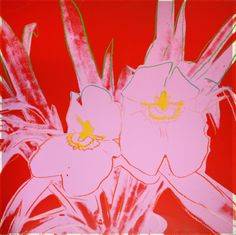 Andy Warhol (American, 1928-1987), Orchids, 1984. Screenprint on Lenox Museum Board, 40.1 х 40.25 in.