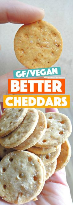 Copycat vegan Better Cheddars--packed with a crispy, cheezy, salty bite in every cracker. Gluten free too!