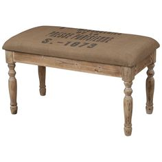 "Found it at Wayfair - ""Presse Parisienne"" Linen Covered Bench in Brown"