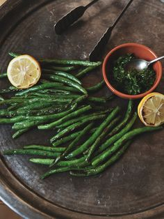 Broiled Green Beans with Lemon Gremolata
