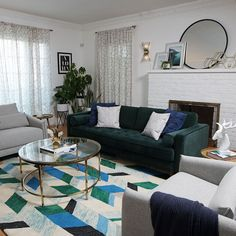 Staying productive while working from home = HARD. But not for long! Watch how Brenna turns this living room into a live-work dream space with functional furniture and decor from Amazon Prime. #Sponsored by Amazon  Shop the look here! Home Living Room, Living Room Designs, Living Room Decor, Bedroom Decor, Home Decor Inspiration, Decor Ideas, Family Room, New Homes, House Design