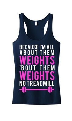 All About Them WEIGHTS Workout Tank Workout door NobullWomanApparel