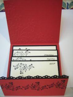 stampin up wedding invitation - Lori Coons
