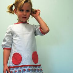 School Girls Fall dress with elephant print by SchoolHouseFrock, $51.00