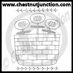 Flower Basket Line Art – Chestnut Junction