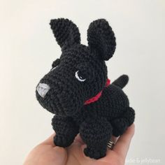 Made to Order SCOTTISH TERRIER crochet amigurumi Scottish Terrier Puppy, Knitted Animals, All Toys, Cute Bows, Toy Sale, Poodle, Gifts For Kids, Hand Sewing, Baby Gifts