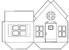 Free Printable Gift Box House House Mini Gift Box Printing